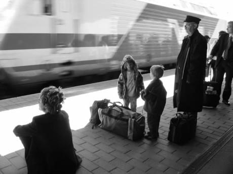Train passing...